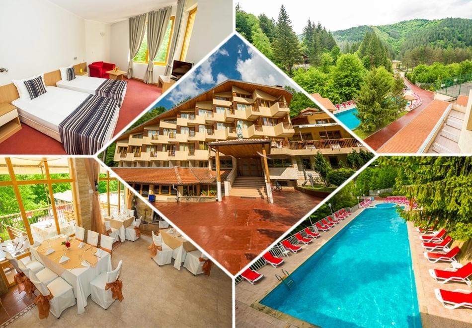 Нощувка със закуска, обяд и вечеря на човек + минерален басейн и сауна в Хотел Дива, до Троян