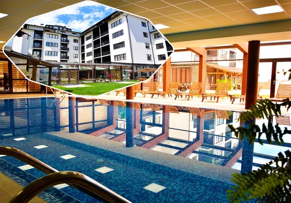 Нощувка със закуска на човек + отопляем вътрешен басейн и релакс зона от хотел Роял Банско Апартмънтс. Дете до 12г. - безплатно!