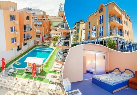 Нощувка за двама, трима или четирима + басейн в хотел Дара, Приморско