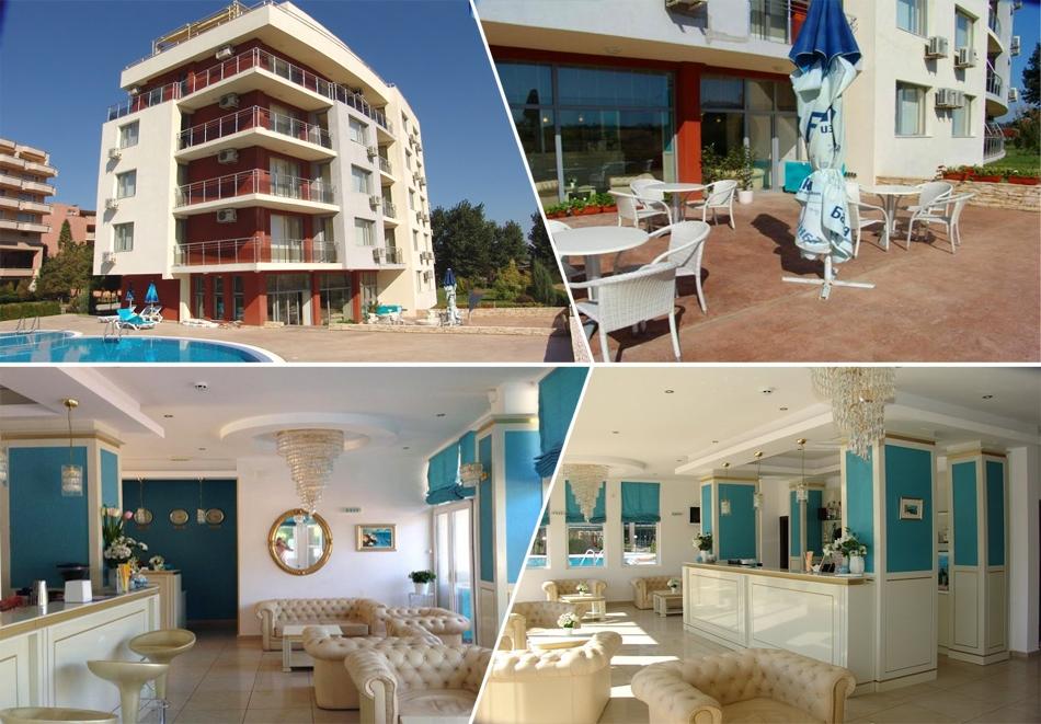 Нощувка за 5-ма в апартамент с гледка море + басейн от хотел Руби, Слънчев бряг