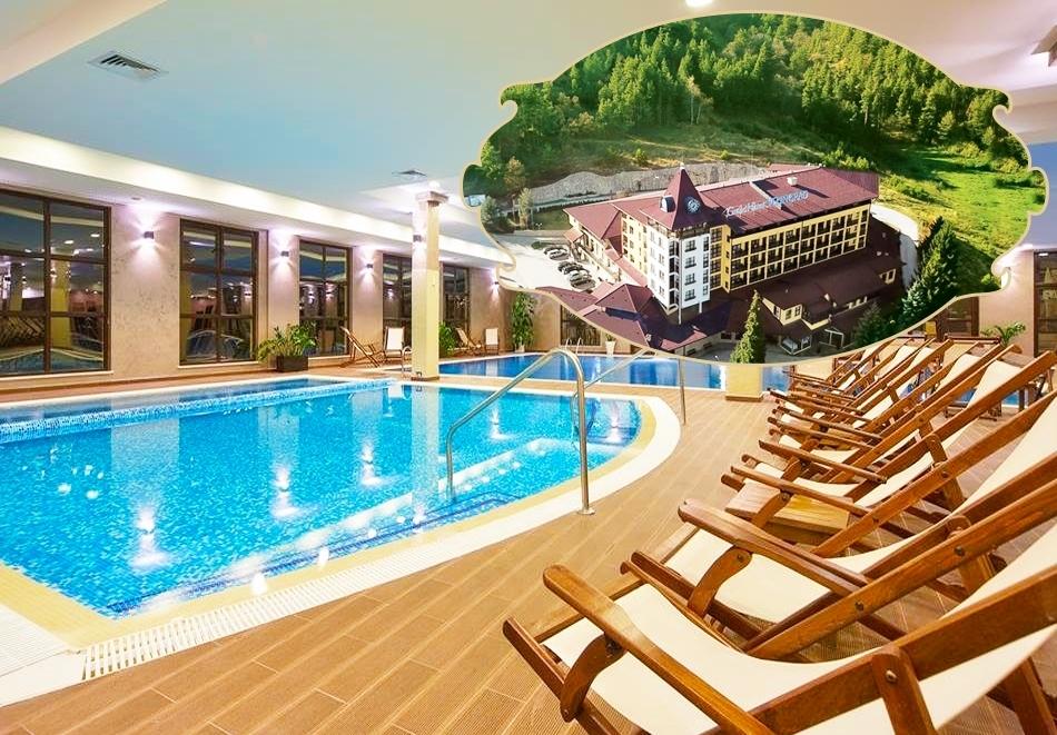 От септември във Велинград! Нощувка на човек със закуска и вечеря + минерални басейни и СПА пакет от Гранд хотел Велинград*****. Дете до 12г. - БЕЗПЛАТНО