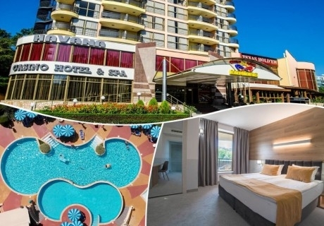 Нощувка на човек на база All Inclusive + басейн в Хавана Казино хотел & Спа****, Златни пясъци