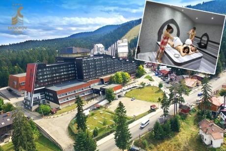 Нощувка на човек със закуска или закуска и вечеря + басейн, термо зона и терапия Розов цвят от хотел Самоков****, Боровец