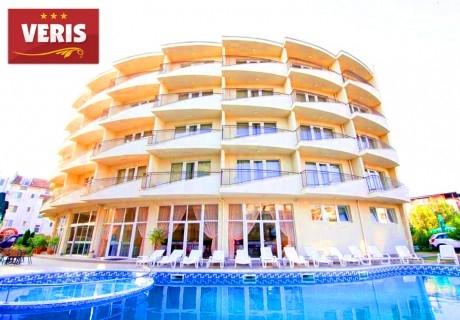 7 нощувки със закуски на човек + басейн в хотел Верис, Слънчев бряг