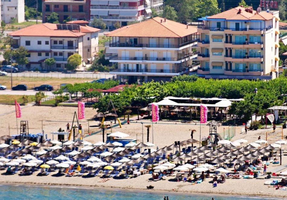 На първа линия в Гърция! 5+ нощувки на човек със закуски в хотел Olympic Star Beach, Неи Пори. Дете до 11.99г. БЕЗПЛАТНО