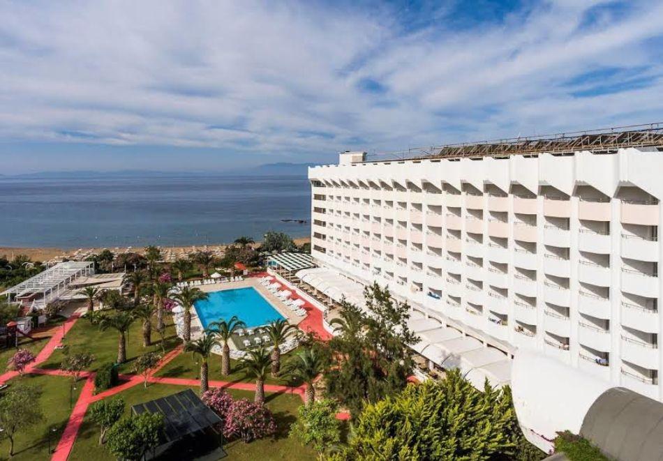 Собствен транспорт! All Inclusive почивка от август до октомври - 5 нощувки на човек в Ladonia Hotels Kesre 4*,  Йоздере, Турция.  Дете до 12 г. - БЕЗПЛАТНО!