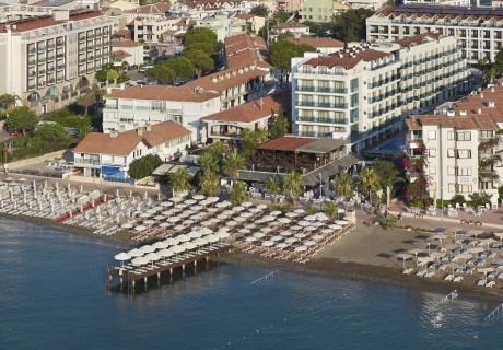 Почивка в EMRE BEACH HOTEL 4*, Мармарис, Турция през август и септември 2021. Чартърен полет от София + 7 нощувки на човек на база All Inclusive!
