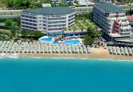 Почивка от август до октомври в ASKA JUST IN BEACH HOTEL 5*, Алания, Турция. Самолетен билет от София + 7 нощувки на човек на база All Inclusive!