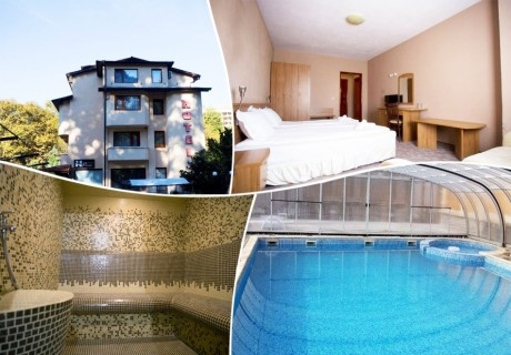 Нощувка със закуска, обяд и вечеря на човек + минерален басейн и релакс зона от хотел Прим, Сандански