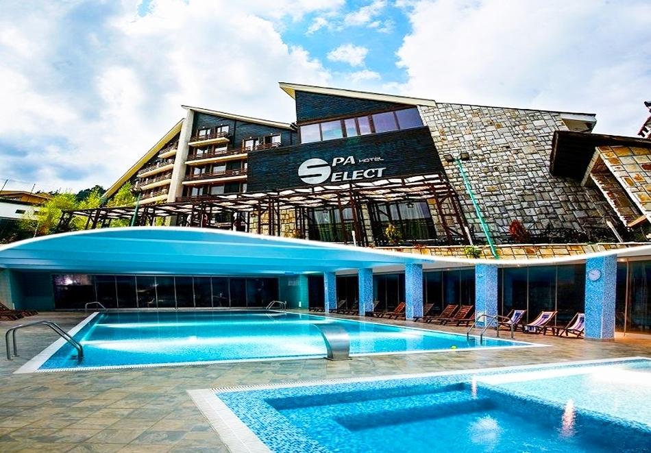 Нощувка на човек със закуска и вечеря + МИНЕРАЛЕН басейн в хотел Селект 4*, Велинград