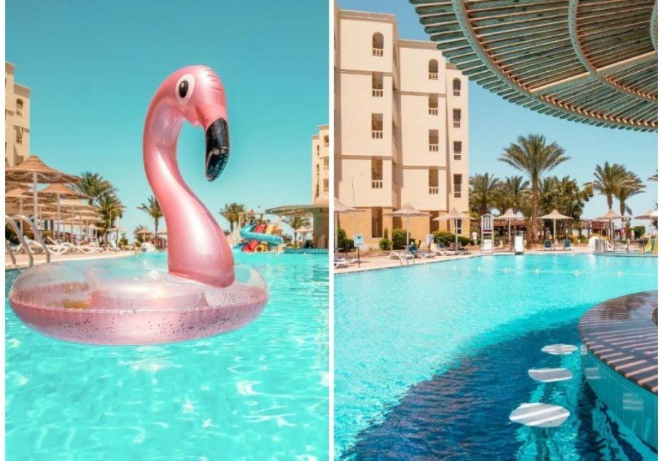 Почивка в Хургада, Египет! Чартърен полет от София + 6 нощувки на човек на база All Inclusive в AMC ROYAL HOTEL & SPA 5* +1 нощувка, закуска, вечеря и посещение на пирамидите в Кайро!