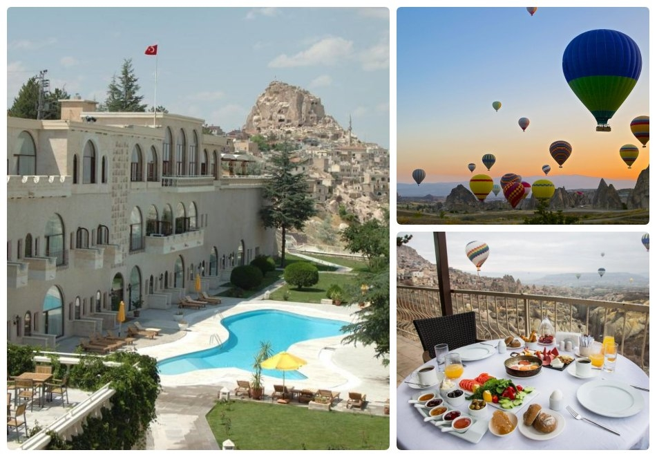 Почивка в UCHISAR KAYA HOTEL,  Кападокия, Турция! Чартърен полет от София + 3 нощувки на човек със закуски и вечери + посещение на Ритуал на дервишите!