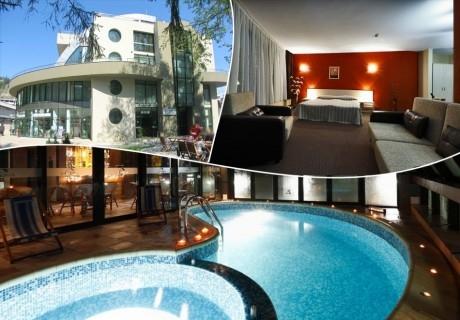 Нощувка със закуска и вечеря на човек + минерален басейн и релакс зона от хотел Евридика, Девин