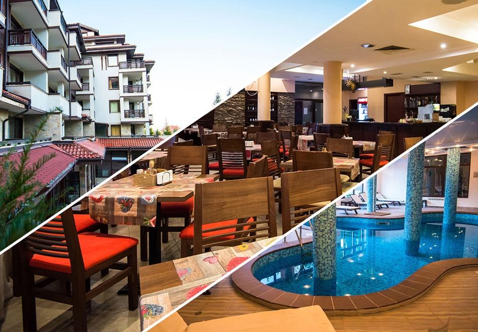 Нощувка на човек + басейн, сауна и парна баня в хотел Орбилукс***, Банско
