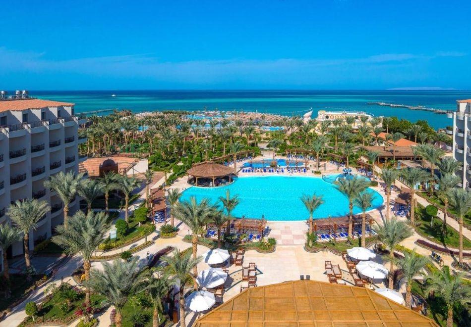 Почивка в HAWAII LE JARDIN AQUA PARK 5*, Хургада, Египет през октомври 2021. Чартърен полет от София и 7 нощувки на база All Inclusive!