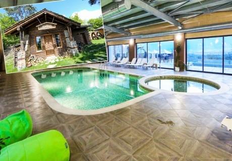Нощувка в еко къщичка със закуска на човек + басейн с минерална вода и релакс зона от хотел Роял Валентина Касъл, Огняново