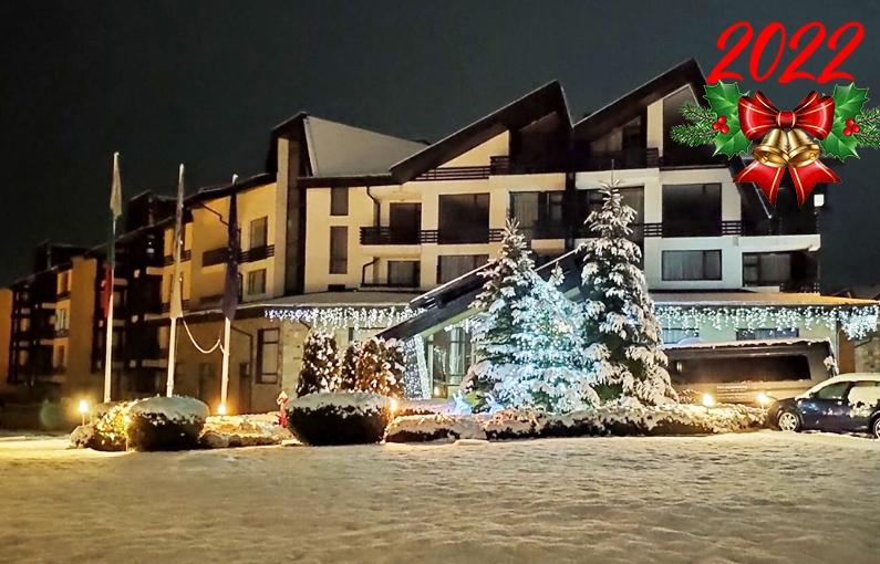 Нова година в Банско! 3, 4 или 5 нощувки на човек със закуски и вечери, едната празнична + закрит басейн и релакс зона от Аспен Резорт***