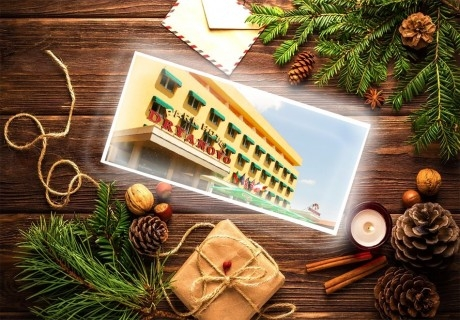 Коледа в Дряново! 2, 3 или 4 нощувки на човек със закуски и две празнични вечери + ползване на Руска или Римска баня в парк хотел Дряново