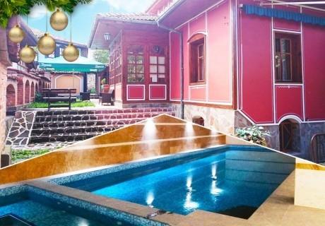 Коледа в Копривщица! 3 нощувки на човек със закуски и вечери, едната празнична + басейн с минерална вода в комплекс Галерия