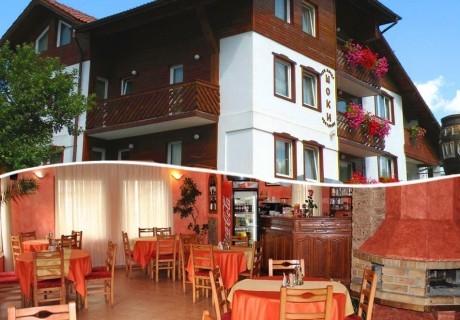 Нощувка на човек със закуска и вечеря + релакс зона в хотел Шоки, Чепеларе