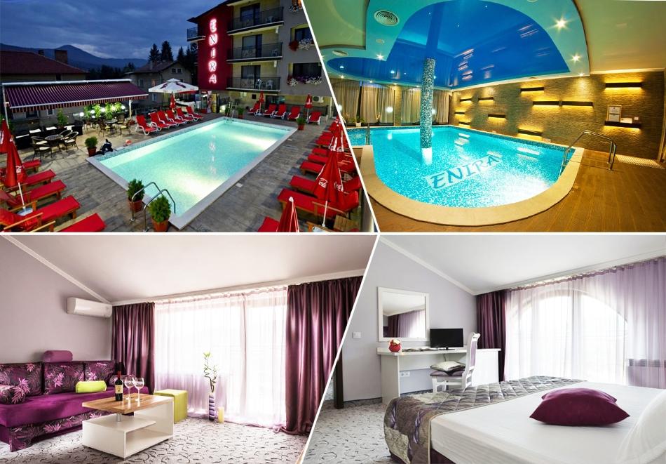 Нощувка за ДВАМА със закуска + минерален басейн и релакс зона от хотел Енира****, Велинград