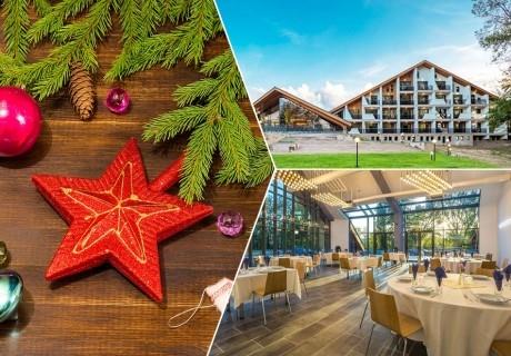 Коледа в Панагюрище! 2 или 3 нощувки на човек със закуски и вечери, две празнични в Парк хотел Асарел