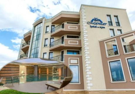 Почивка до Сандански! 3 нощувки на човек със закуски + басейн и СПА от хотел Мантар, с. Марикостиново