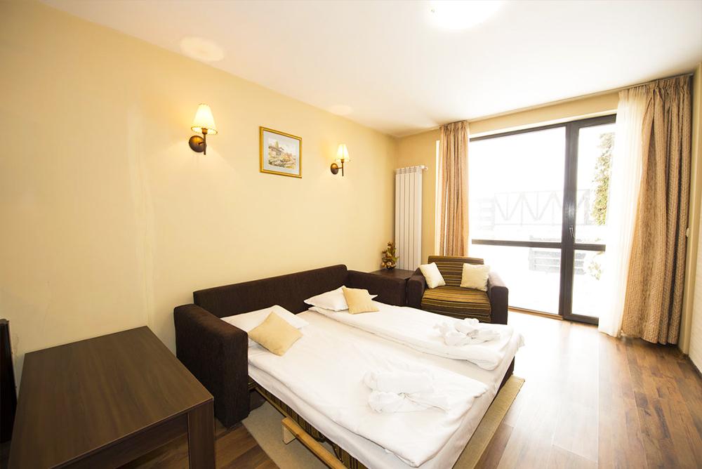 Нощувка в апартамент за четирима + руска баня в  апарт хотел Дрийм***, Банско, снимка 9