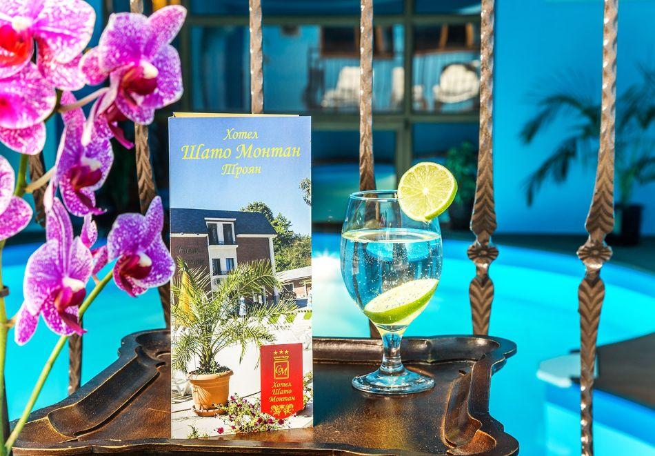 Нощувка на човек със закуска и вечеря + топъл басейн в хотел Шато Монтан, Троян, снимка 8