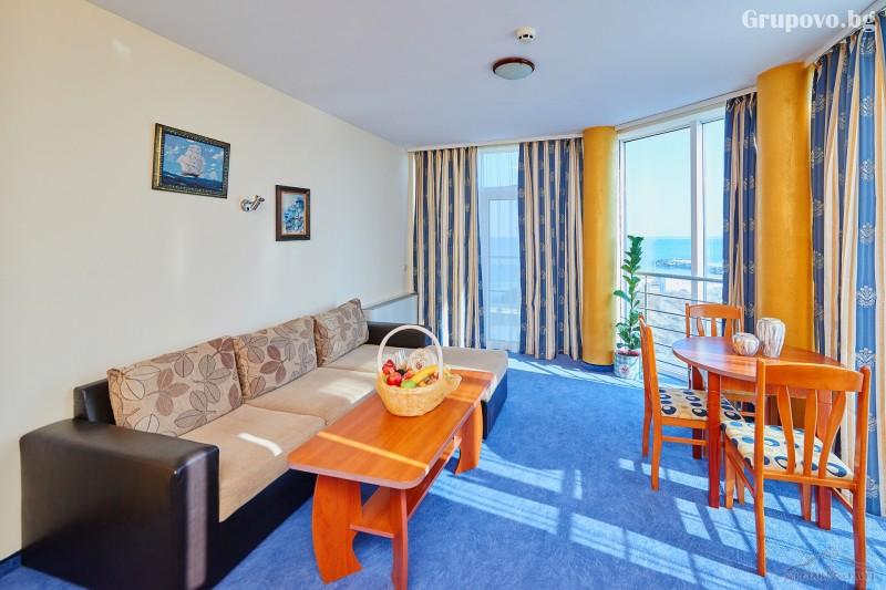 Нощувка на човек в едноспален или двуспален апартамент със закуска и вечеря* + релакс зона от хотел Св. Св. Петър и Павел***, Поморие, снимка 8