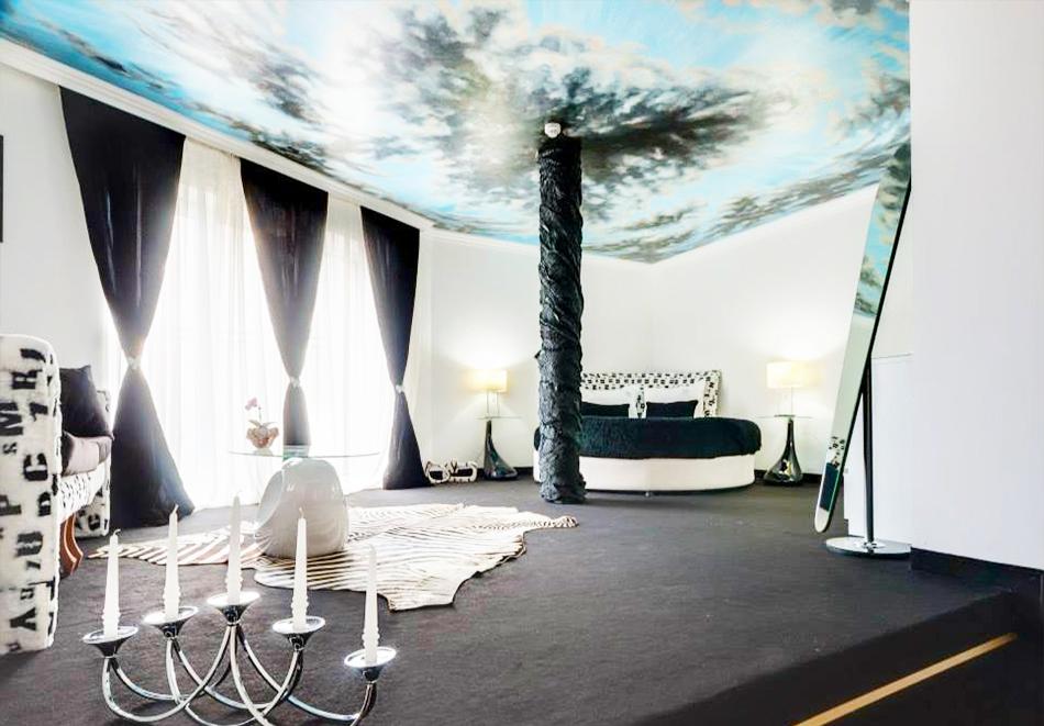Нощувка на човек + топъл минерален басейн и релакс зона в хотел Бац****, Петрич, снимка 13