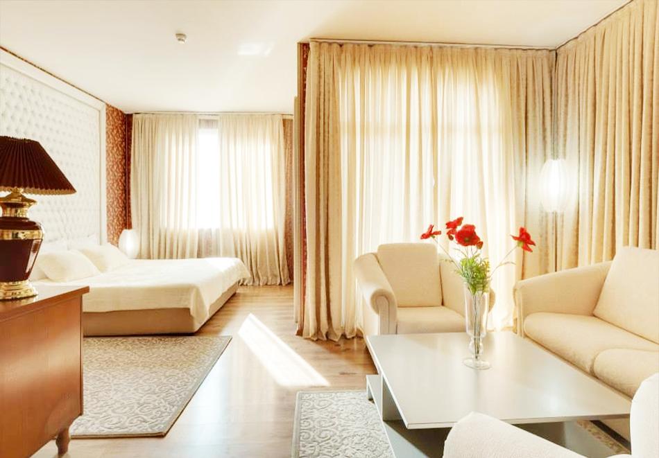 Нощувка на човек + топъл минерален басейн и релакс зона в хотел Бац****, Петрич, снимка 4