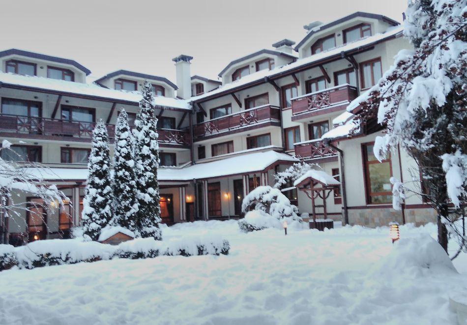 Нощувка на човек със закуска и вечеря + басейн и сауна в хотел Евелина Палас****, Банско, снимка 15