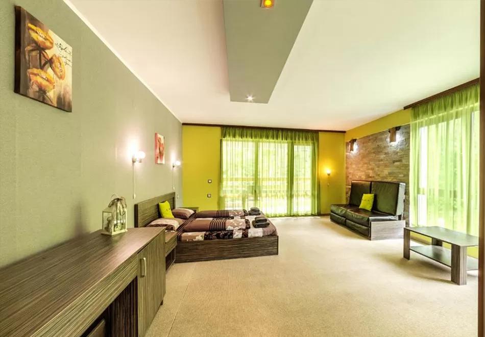 Нощувка на човек със закуска и вечеря + външен топъл минерален басейн и релакс зона от хотел Бохема***, Огняново, снимка 12