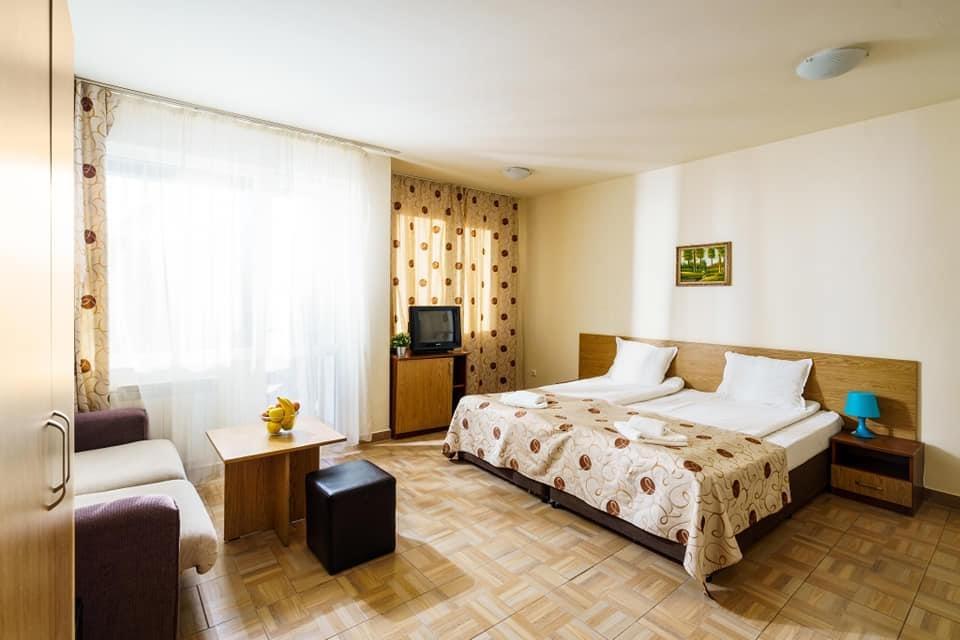 Нощувка на човек със закуска и вечеря + минерален басейн и релакс пакет в хотел Вита Спрингс, с. Баня до Банско, снимка 14