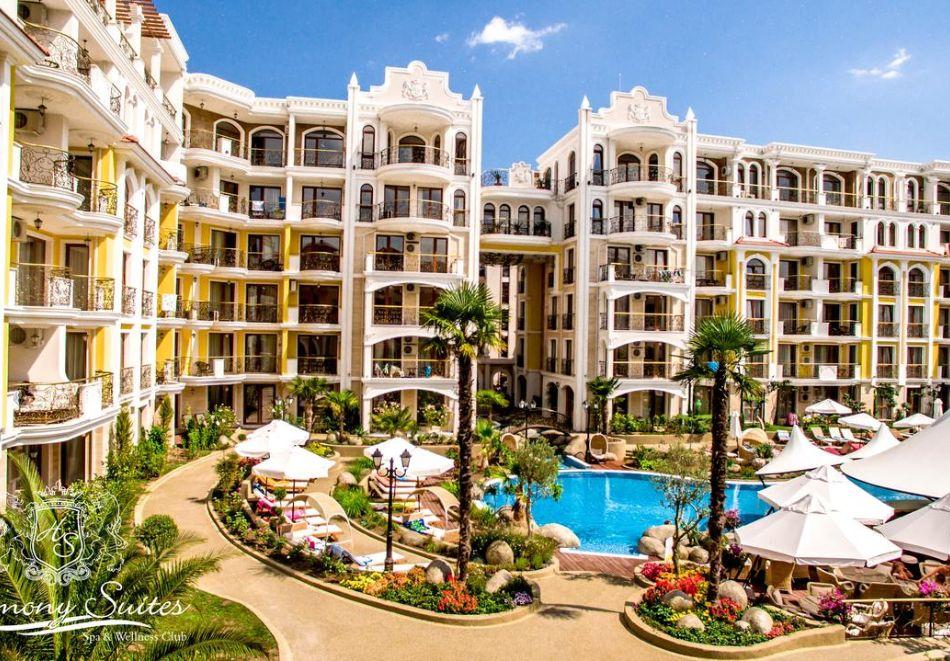 Нощувка на човек + басейн и релакс зона в хотел Хармони Суитс Монте Карло, Слънчеб бряг, снимка 2
