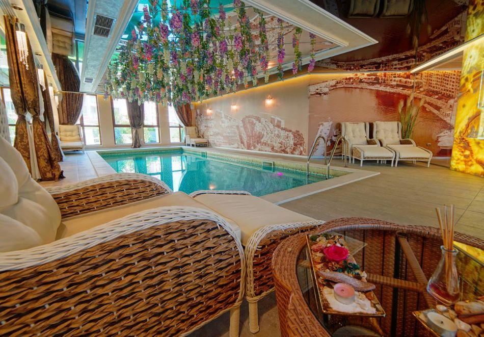 Нощувка на човек + басейн и релакс зона в хотел Хармони Суитс Монте Карло, Слънчеб бряг, снимка 6