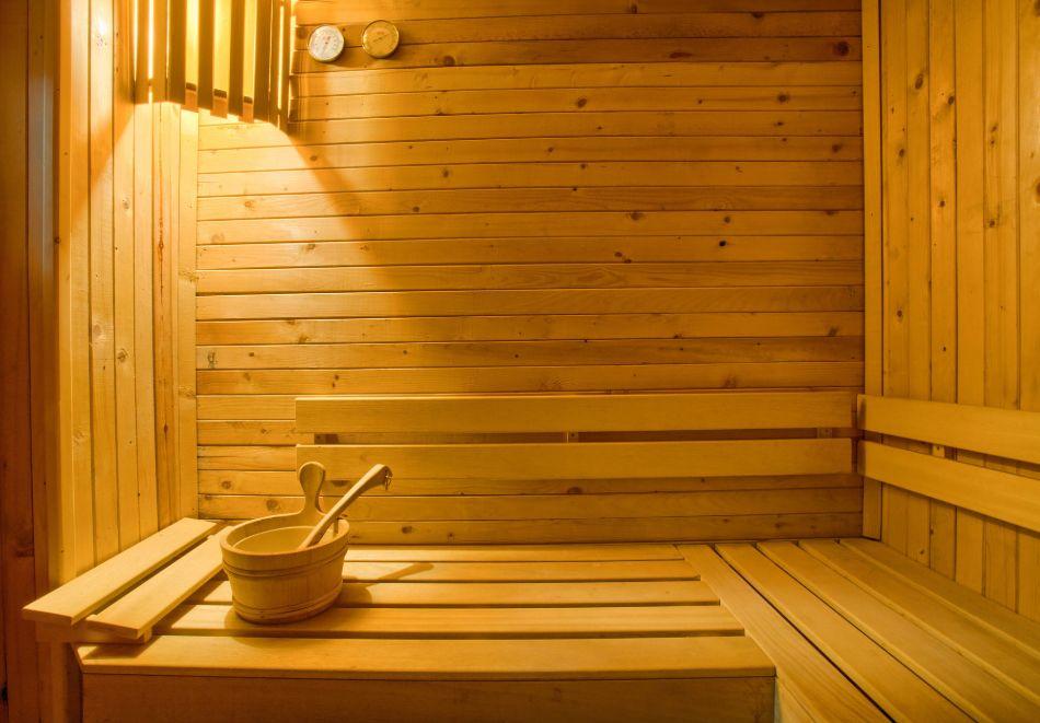 Нощувка на човек със закуска и вечеря + сауна от Везюва къща, Банско, снимка 2