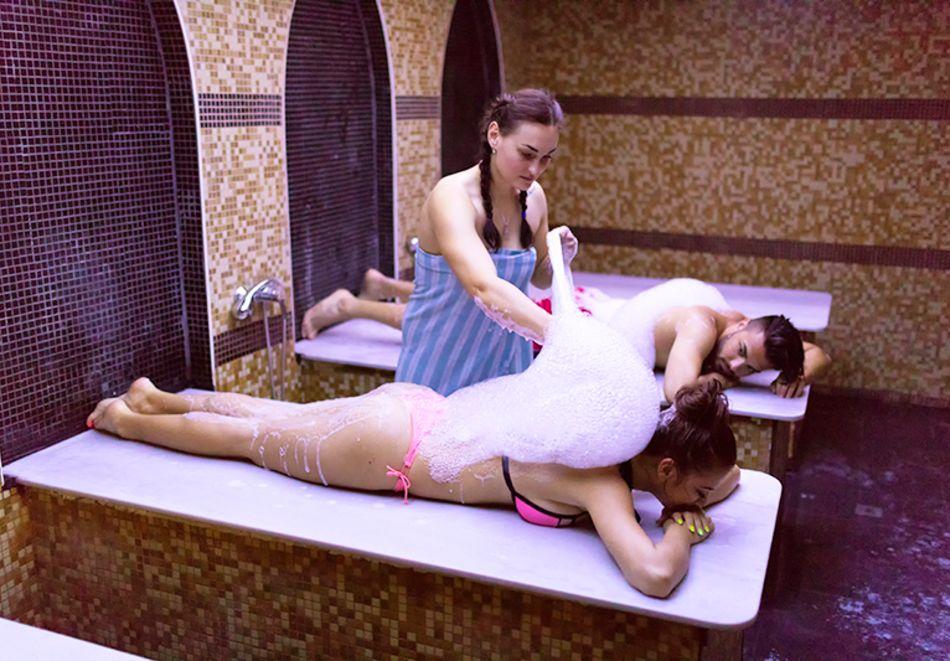 Нощувка на човек във фамилна делукс стая на база All Inclusive + 5 басейна и СПА в Престиж Делукс Хотел Аквапарк Клуб****, Златни пясъци, снимка 22