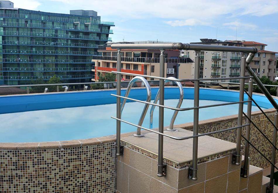 Нощувка на човек със закуска, обяд* и вечеря + басейн в хотел Левел, Приморско, снимка 4