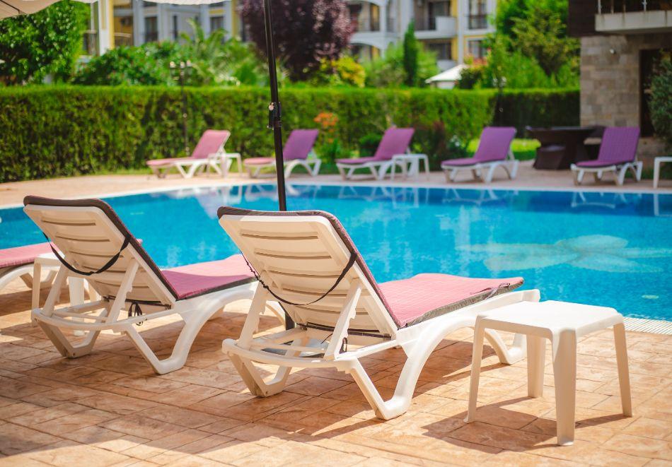 1, 2 или 3 нощувки на човек със закуски + басейн в Апарт хотел Магнолия Гардън, Слънчев бряг. Дете до 12г. - безплатно, снимка 25