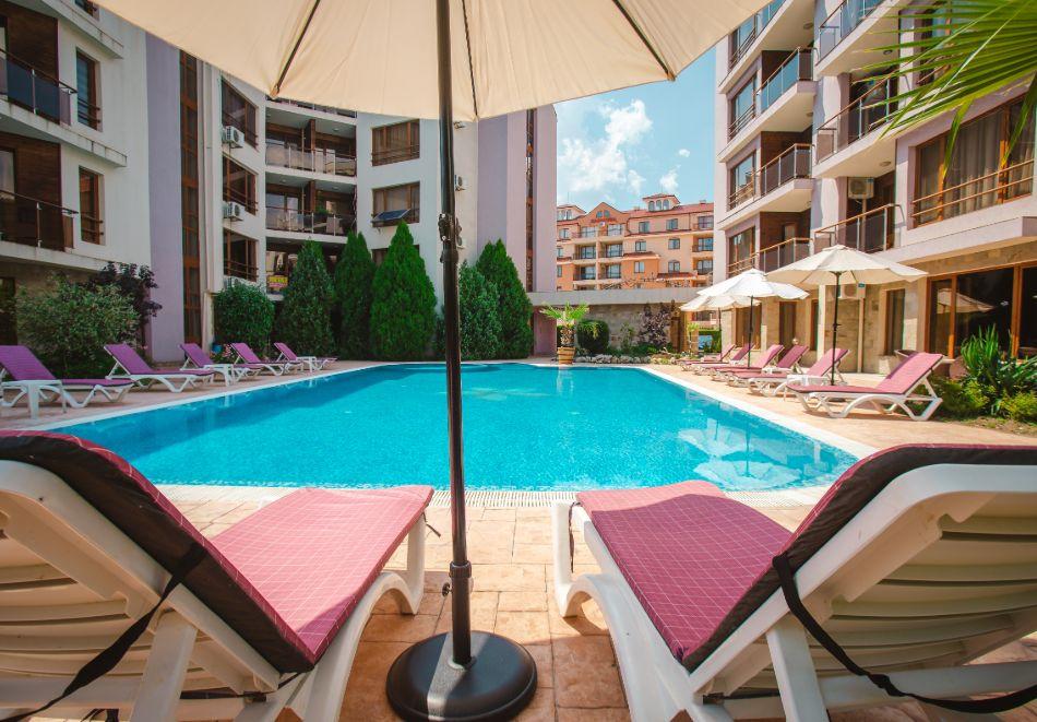 3 нощувки на човек на база All inclusive light + басейн в Апарт хотел Магнолия Гардън, Слънчев бряг, снимка 6
