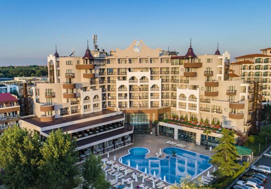 Нощувка на човек на база All Inclusive + СПА процедури + басейн и анимация в хотел Империал Ризорт, Слънчев бряг, снимка 3