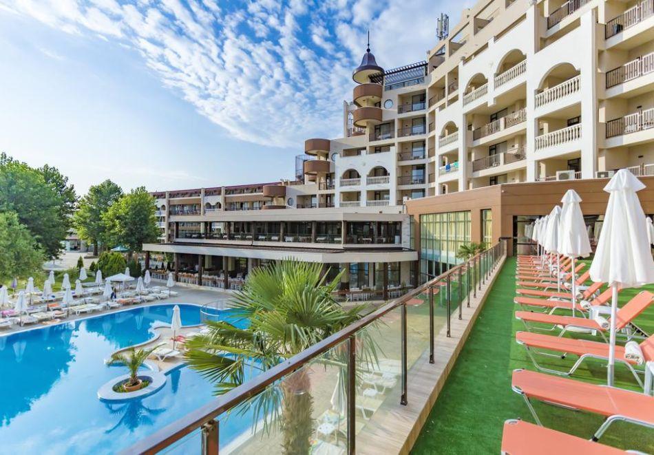 Нощувка на човек на база All Inclusive + СПА процедури + басейн и анимация в хотел Империал Ризорт, Слънчев бряг, снимка 5