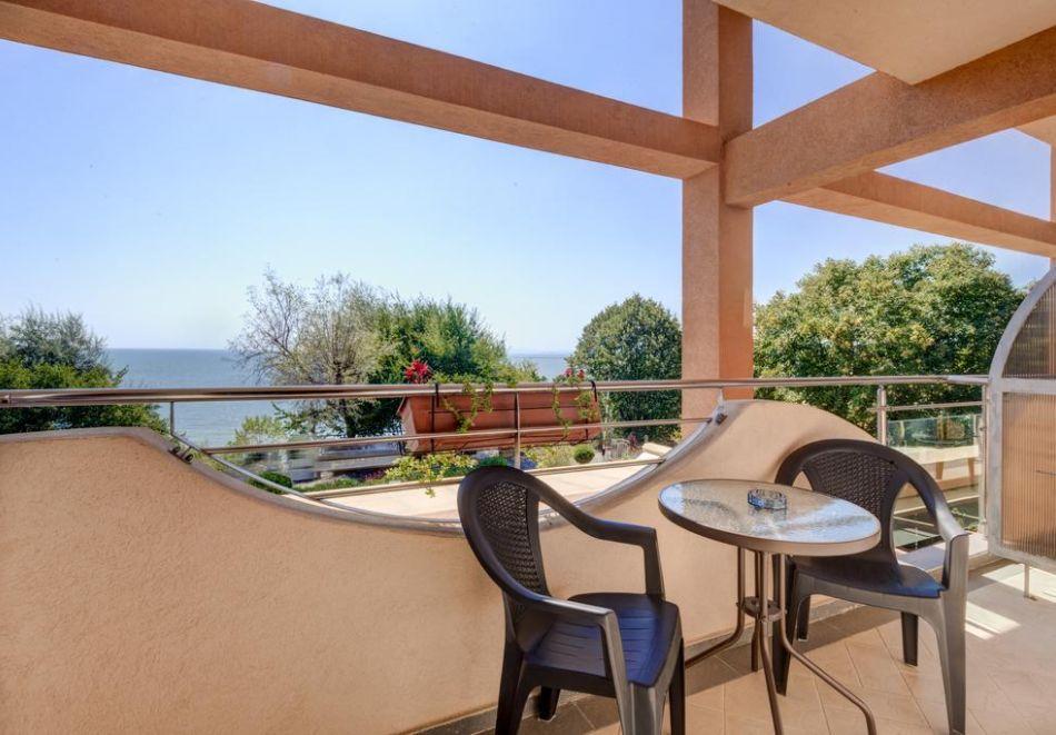 Нощувка на човек + басейн в хотел Капри, на ПЪРВА ЛИНИЯ в Несебър, снимка 12