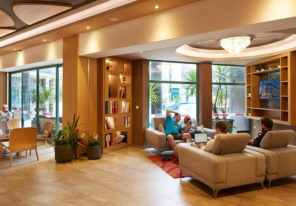 Нощувка на човек на база All Inclusive + басейн в хотел Диамант****, Слънчев бряг. Дете до 12.99 г. - БЕЗПЛАТНО, снимка 10