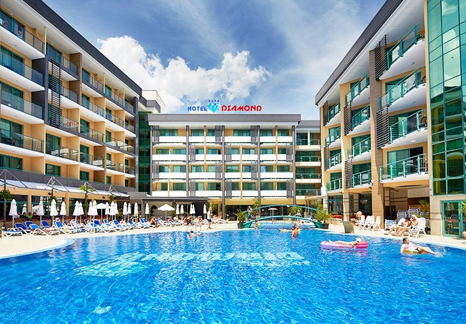 Нощувка на човек на база All Inclusive + басейн в хотел Диамант****, Слънчев бряг. Дете до 12.99 г. - БЕЗПЛАТНО, снимка 2
