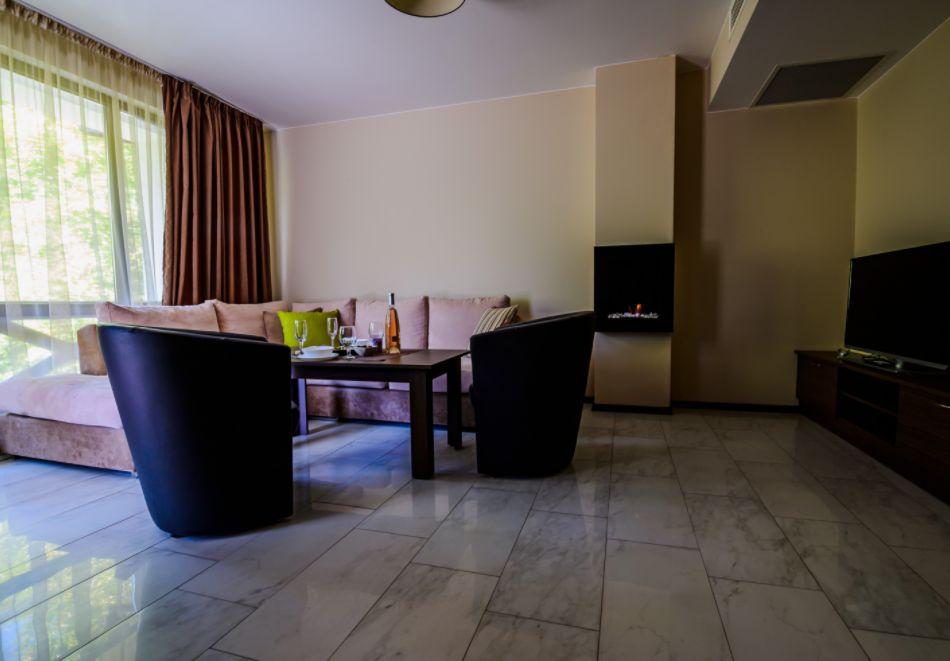 Нощувка със закуска за четирима в апартамент + външен минерален басейн в Къщи за гости Релакс, Огняново, снимка 8
