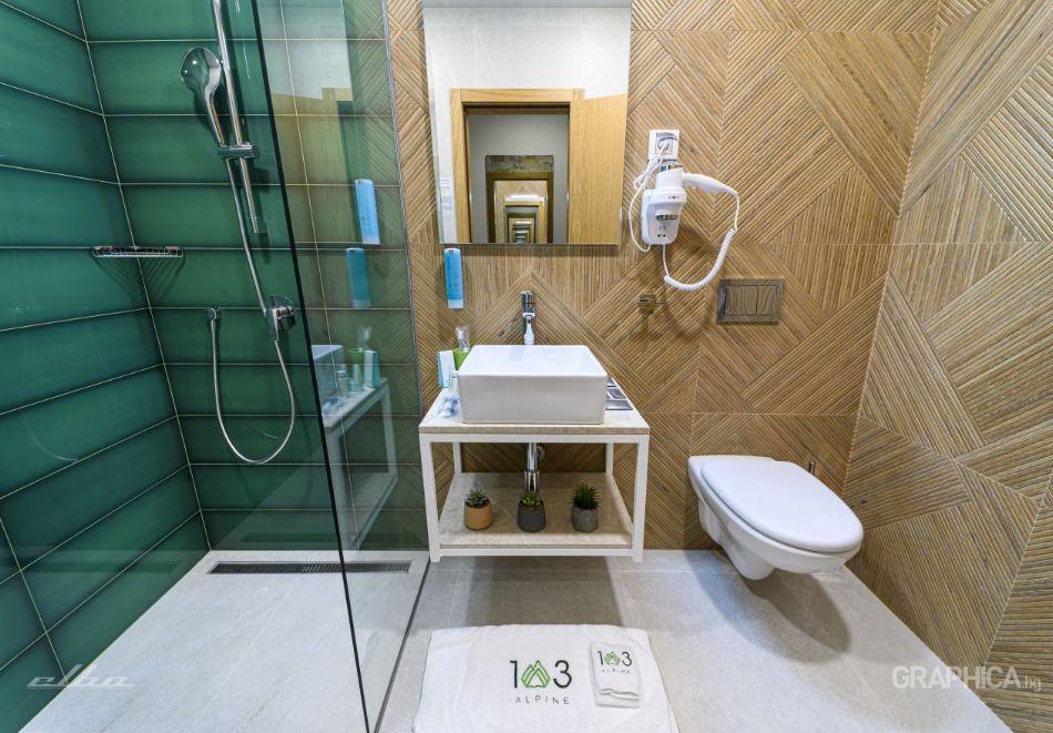 Нощувка със закуска на човек + басейн с подсолена вода и СПА в Семеен Хотел 103 Алпин, Паничище, снимка 22