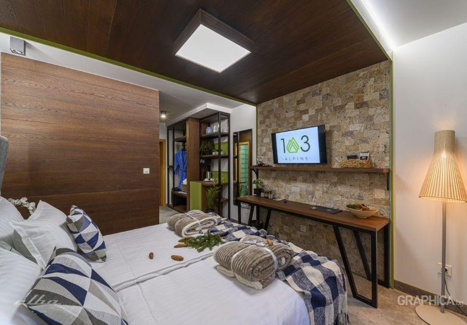 Нощувка със закуска на човек + басейн с подсолена вода и СПА в Семеен Хотел 103 Алпин, Паничище, снимка 15